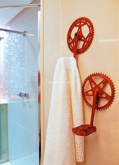 If you had an old bicycle at home but it does not ride properly then simply used the paddles of your old bicycle to make this wonderful useful product at your washroom. This cloth hanger out of used bicycle paddles is not only useful for hanging clothes but also appears classic.