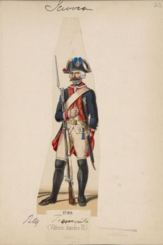 Savoy Infantry Regiment Piemonte 1789