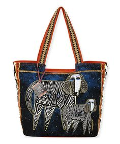 Love this Blue Zigzag Dogs Tote by Laurel Burch on #zulily! #zulilyfinds