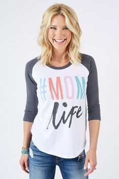 Junkfood #MOMlife Raglan $48 Proudly living the #momlife.