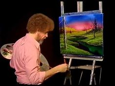 Bob Ross - Painting Blaze of Color - Painting Video
