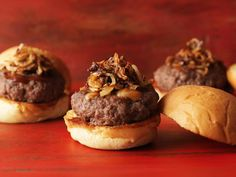 "These ""Spicy Juicy Lucy-fer Sliders"" would make a great addition to any Halloween spread!"
