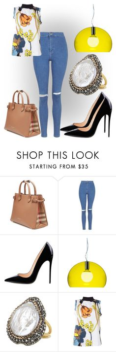 """And so it goes..."" by black-wings ❤ liked on Polyvore featuring Burberry, Topshop, Kartell, Soru Jewellery and Marni"