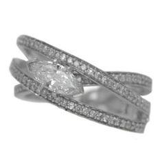0.92 cttw. Diamond Ring in 14 kw https://www.goldinart.com/shop/rings/diamond-rings/0-92-cttw-diamond-ring-14-kw