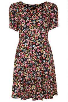 Floral Flippy Dress - Dresses  - Clothing