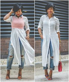 WHITE BUTTON DOWN, Fall Outfit Idea, Sweenee Style, Zara Earrings, Boyfriend Jeans, How to wear boyfriend Jeans, Urban Outfitters, Indianapolis Fashion Blog, Black Indianapolis Blogger