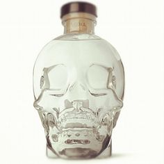 Vodka in a crystal skull, why not?!