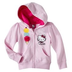 Hello Kitty Infant Toddler Girls Long-sleeve Hoodie - Pink