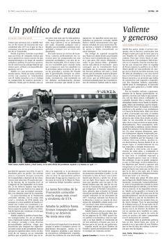 """El procer Adolfo Suárez, destacado en la edición ESPECIAL del perodico Español """"El País"""" del 24 de marzo de 2014. Pagina 29~ Spain's national hero Adolfo Suárez, featured in the 24 March 2014 SPECIAL issue of the Spanish newspaper """"El País"""". Page 29"""
