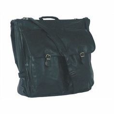 Mercury Luggage Simulated Leather Executive Garment Bag One main compartment. Double zippered U shaped opening. Two front zippered pouches covered by buckle flap and back zippered pocket. Two interior zippered pockets and removable metal hanging hook. Reinforced handle with detachable adjustable shoulder strap with no-slip pad.  #Mercury_Luggage #Apparel