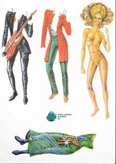 Тиффани (Tiffany, Тифани, Тифанни) бумажные куклы 90 е киоск роспечать