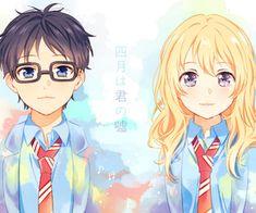 Arima Kousei & Miyazono Kaori, Shigatsu wa kimi no uso Manga Anime, Art Manga, Anime Art, Your Lie In April, Angel Beats, Drama, Baka To Test, Miyazono Kaori, Films Netflix