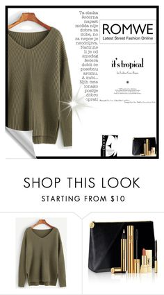 """""""Romwe sweatshirt"""" by ice87 ❤ liked on Polyvore featuring Yves Saint Laurent"""