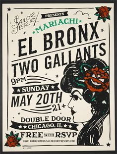 Mariachi el Bronx poster by Sailor Jerry