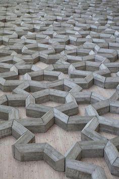Beton Design, Concrete Design, Pattern Concrete, Concrete Blocks, Sculpture Art, Sculptures, Concrete Sculpture, Instalation Art, Motifs Textiles