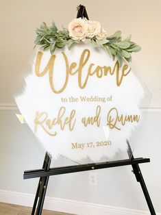 100 Boho Wedding Decor Finds You'll Love! | The Perfect Palette Rustic Wedding Rings, Gold Wedding, Wedding Table, Fish Wedding, Green Wedding, Wedding Reception, Wedding Welcome Signs, Wedding Signs, Wedding Ideas