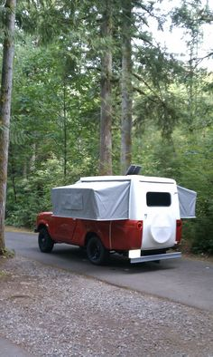 I Love this pop up camper top on a scout!
