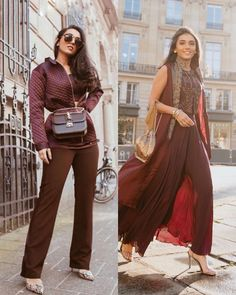 What does your wardrobe have more of, western or Indian looks? 💛 Engagement Dress For Female, Indian Engagement Dress, Engagement Dresses, Indian Look, Bridesmaid Outfit, Wedding Tips, Diva, Bollywood, Celebs