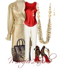 """""""Red Gold & Leopard"""""""