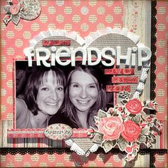The Paper Variety: Tutorial: Faux Paper Lace by Suzanne! This is a scrapbook page Scrapbook Templates, Scrapbook Sketches, Scrapbook Page Layouts, Scrapbook Quotes, Scrapbook Cards, Picture Layouts, Paper Lace, Paper Crafts, Diy Crafts
