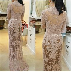 The back side. Sexy and lovable. @Vera Anggraini Kebaya Pink, Vera Kebaya, Kebaya Lace, Kebaya Hijab, Kebaya Brokat, Kebaya Dress, Batik Kebaya, Batik Dress, Lace Dress