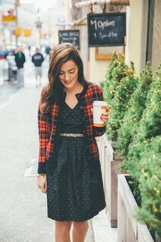 Cute plaid sweater for autumn + winter!