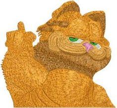 Garfield free machine embroidery design. Machine embroidery design. www.embroideres.com