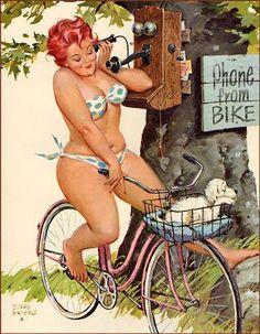 Hilda, a full figured pinup girl by Duane Bryers