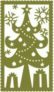 christmas tree holiday rectangle- cute canvas painting idea ... Different color for me!