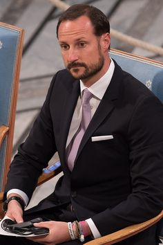 Crown Prince Haakon of Norway attends the Nobel Peace Prize ceremony at Oslo City Town Hall on December 10, 2015 in Oslo, Norway.