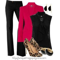 ❤ red & black, one of my all-time favorite color combinations, & of course, any animal print! by uniqueimage on Polyvore