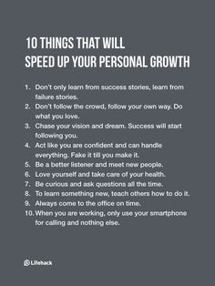 Inspirational Quotes: Take Note Of These 10 Things If You Want To Accelerate Your Personal Growth. Life Advice, Good Advice, Self Development, Personal Development, Leadership Development, Motivational Quotes, Inspirational Quotes, Self Improvement Tips, Best Self