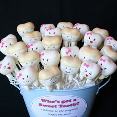 12 Sweet Teeth Cake Pops for Tooth Fairy by SweetWhimsyShop