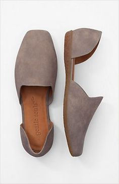 """Soft leather loafer-style in a modern d'Orsay design. Natural latex sole for incredible comfort and flexibility. Cushioned, deerskin-lined footbed. 3/4"""" heel.  $185 JJill"""