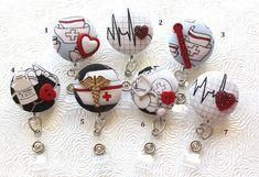 Medical ID Badge Reel/Nurse/Doctor/Medical/Teacher/School/Office/Stethescope/Bandages/Nurse Hat/Red Heart/Cardiac