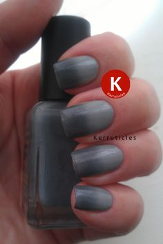 Grey gradient nails using Barry M Grey and Revlon Hazy