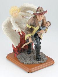 Heavenly Guidance Firefighter Statue