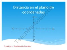Distancia en el plano de coordenadas from TeachingCorner on TeachersNotebook.com -  (8 pages)  - An eight page PowerPoint slide that gives a quick look at calculating distance between coordinates. It's an introduction and it shows how to find the distance when two of the x or y coordinates are the same. It's in Spanish.