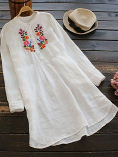 Newchic - Fashion Chic Clothes Online, Discover The Latest Fashion Trends Mobile Simple Kurti Designs, Stylish Dress Designs, Kurta Designs Women, Dress Neck Designs, Stylish Dresses, Blouse Designs, Woolen Clothes, Embroidery Suits Design, Kurti Designs Party Wear