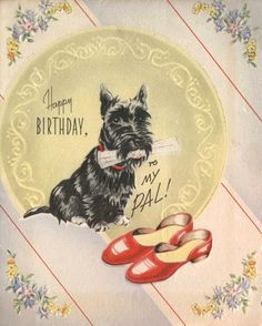 Vintage Scottie Card
