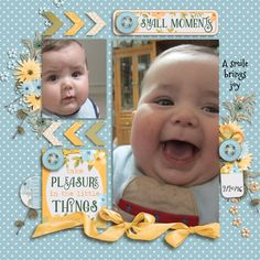 What a joy this little guy is!  He laughs up a storm, and it's quite a trick to try and hold the camera still while laughing at him!  Love him to pieces! I used THANKSLIVING from SEATROUT SCRAPS found here:  http://store.gingerscraps.net/Thanks-Living.html with a template also from SEATROUT SCRAPS FEBRUARY FIZZ grab bag found here:  http://store.gingerscraps.net/February-Fizz-4-Template-Grab-Bag.html