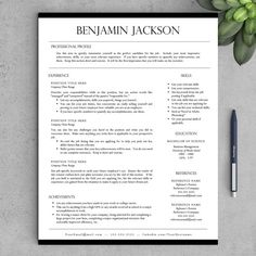 Life after college. Professional Resume Templates for Word AND Pages + Free Cover Letter + Tips   One & Two Page Resume Templates   INSTANT DOWNLOAD