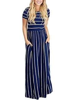 4f485f866 Happy Sailed Womens Casual Short Sleeve A Line Summer Maxi Dresses Long  Beach Dresses Size 12