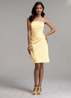 David's Bridal Short Satin Dress with Side Drape Style F44026, Canary, 6 David's Bridal, http://www.amazon.com/dp/B005FOLGFY/ref=cm_sw_r_pi_dp_VRY9qb0JQF600