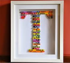Crayons- but would also be cute made out of matchbox cars or flowers or hair bows.
