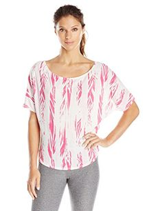 Zumba Fitness Womens Treaded OffTheShoulder Tee White XLarge ** Check out the image by visiting the affiliate link Amazon.com on image.