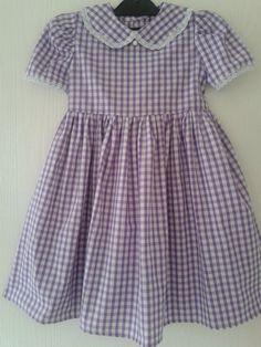 Handmade Gingham School  Dress