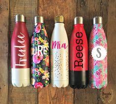 Monogrammed Stainless Steel Water Bottles