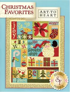 Christmas Favorites Book: Christmas Favorites is a design by Nancy Halvorsen which features a variety of Christmas-themed blocks. The poinsettia block features three-dimensional petals, while the Santa block features a three-dimensional mustache! All of the blocks in the book can also be used to make pillows, mini quilts or other fun festive projects. Quilt finishes to 61