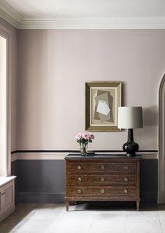 Image result for pink walls black trim